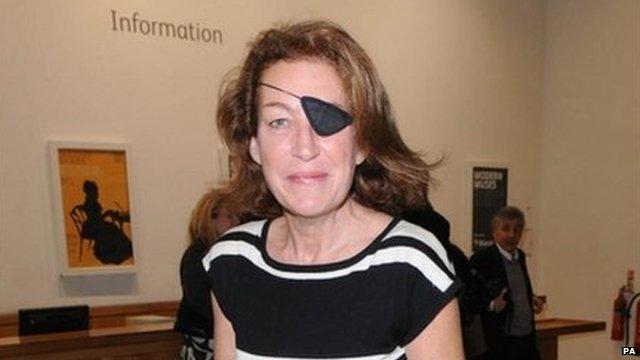 Marie Colvin in London in 2008