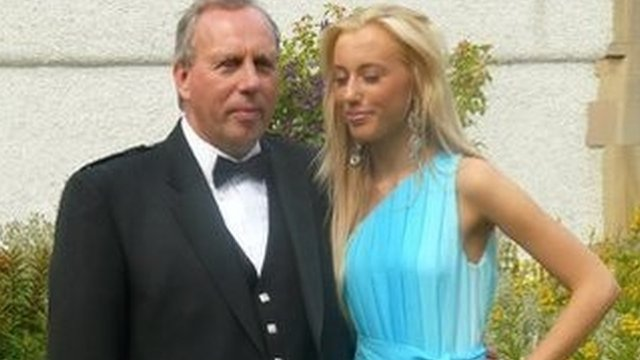 Dennis Robertson and his daughter Caroline