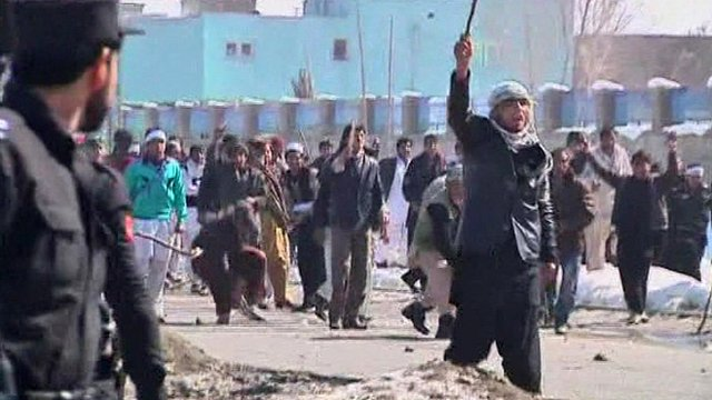 Police confront rioters in Kabul
