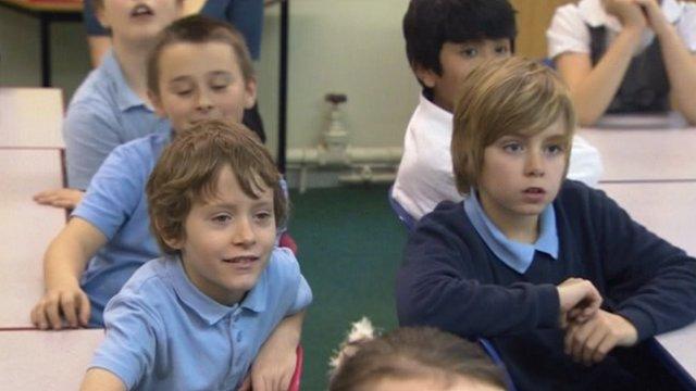 Pupils listen to their teacher