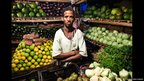 Man at a vegetables market in Addis Ababa
