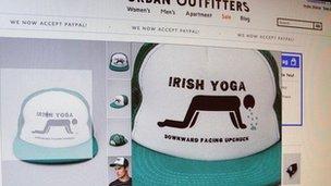Irish yoga hat