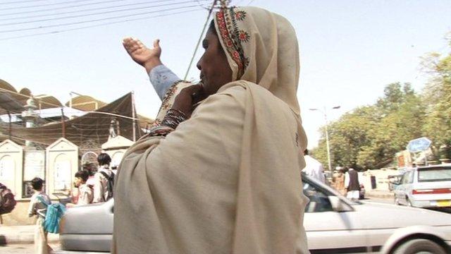 Shakila directing traffic