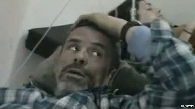 Paul Conroy in hospital bed - from video posted online