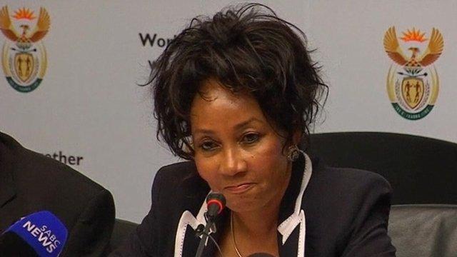 Defence Minister Lindiwe Sisulu