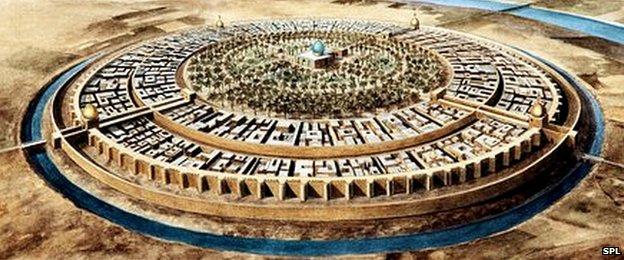 Baghdad in Abbasid times (artwork)