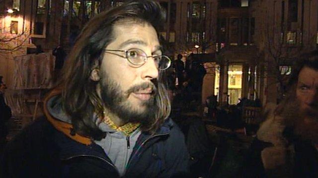 Occupy London protester George Barda
