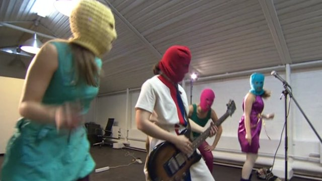 Russian feminist punk band Pussy Riot