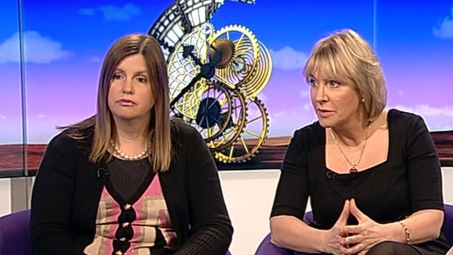 Nicola Horlick and Nadine Dorries