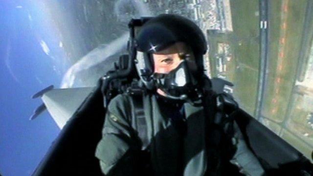 RAF pilot inside plane