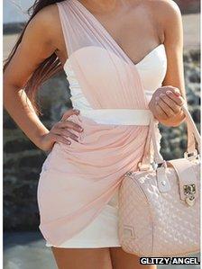 Pink dress by Glitzy Angel