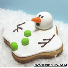 Melting snowman cookie by Meaghan Mountford