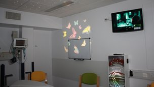 One of the children's A&E cubicles at Basildon Hospital