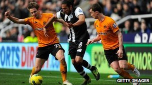 Newcastle v Wolves in the Premier League