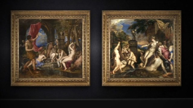 Titian's Diana and Callisto and Diana and Actaeon