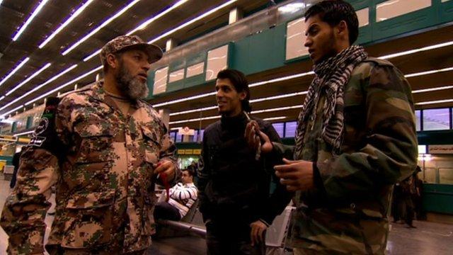 Libya's militia present in airports