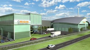An artist's impression of the proposed energy centre