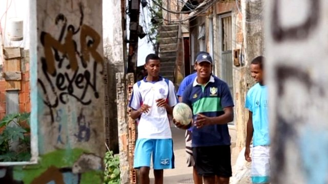 Paixao brothers playing rugby in Rio favela