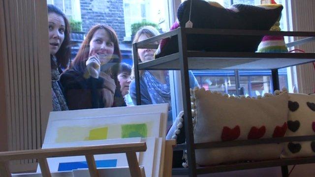 Pop-up shop in London