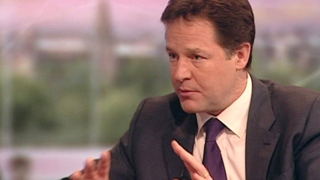Nick Clegg says the benefits system needs to be fairer, and asking those who earn more money to give up benefits is fair.