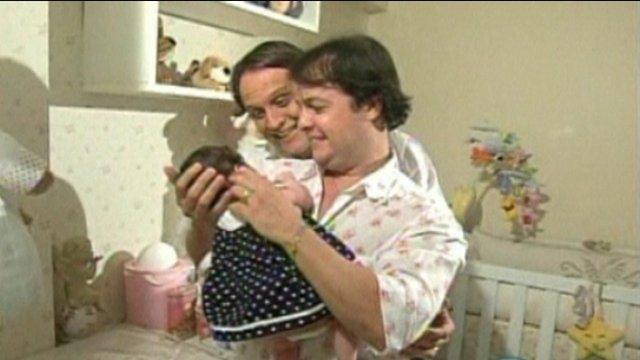 Mailton Alves and Wilson Albuquerque with their daughter