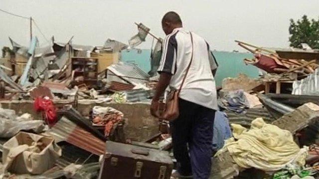 Brazzaville blast aftermath