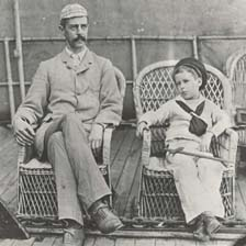 Lawrence Oates and his father William (Picture supplied by Capt Oates's family)