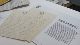 Letters written between the captain and his mother
