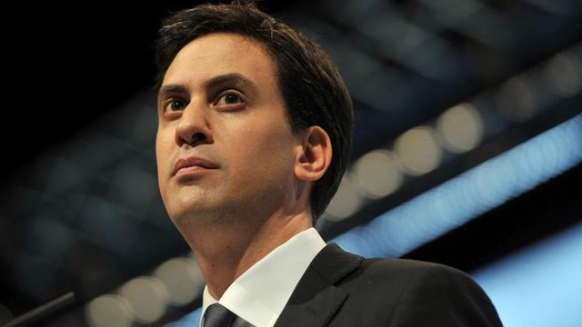 Ed Miliband at a Labour Party annual conference in Liverpool in 2011.