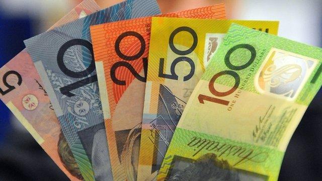 Australian dollar polymer notes