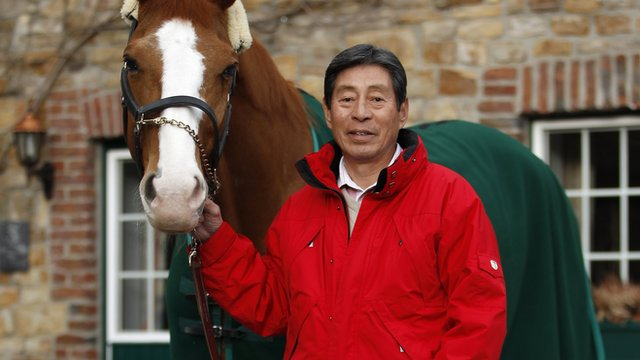 70-year-old Olympian Hirosi Hoketsu and his horse Whisper