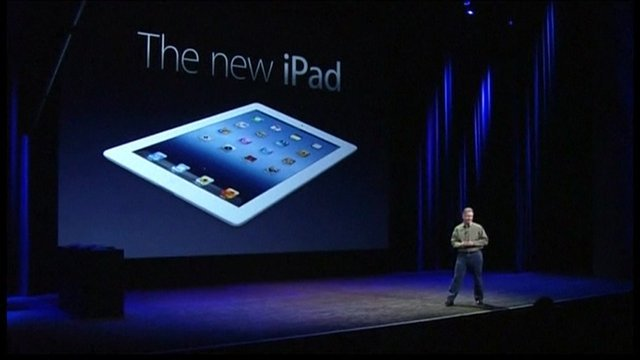 Apple's new iPad is launched at a staged event