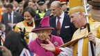 The Queen with the Bishop of Leicester