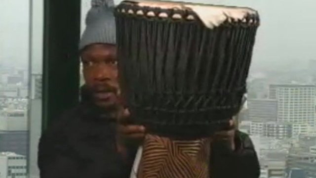 African drummer Enock Mahlangu