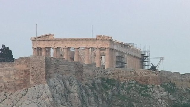 Acropolis in the centre of Athens, Greece