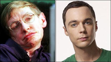 Professor Stephen Hawking and Jim Parsons