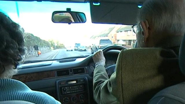 Ninety-one-year-old Donald is still happy to drive