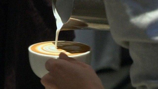 A latte cup
