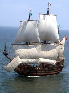 A recontruction of the Mary Rose
