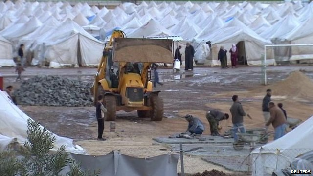 Tent city in Turkey