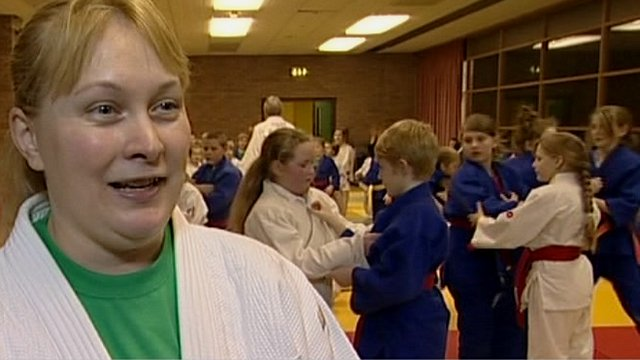 Judo coach Beth Wood