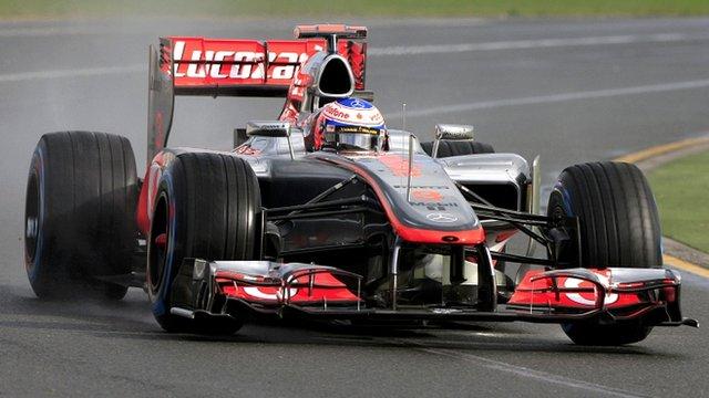 Jenson Button in his McLaren in Melbourne