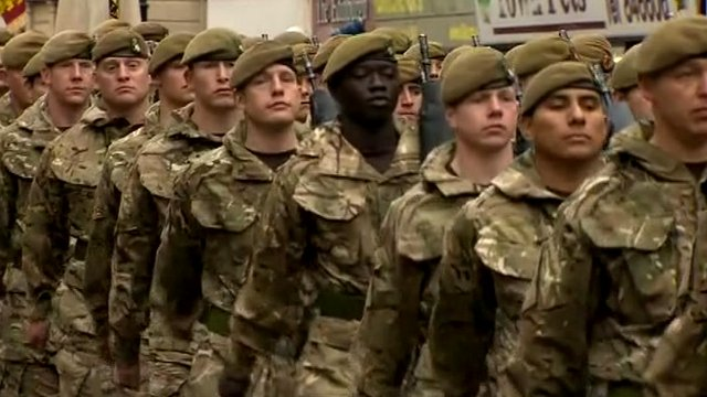 Soldiers from the 3rd Battalion, the Yorkshire Regiment