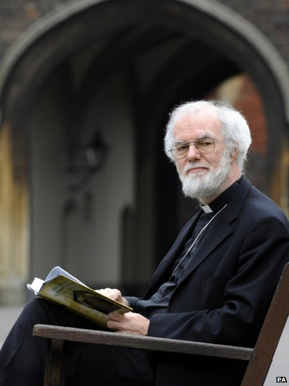 Dr Rowan Williams yn 2012