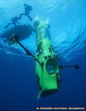 Deepsea Challenge (Mark Thiessen/National Geographic)