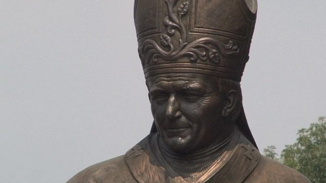 Statue of Pope in Mexico