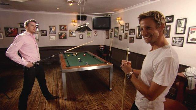 Jake Humphrey and Jenson Button