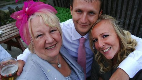 Emma and Jonathan Gray and Mr Gray's mother Cath Davies
