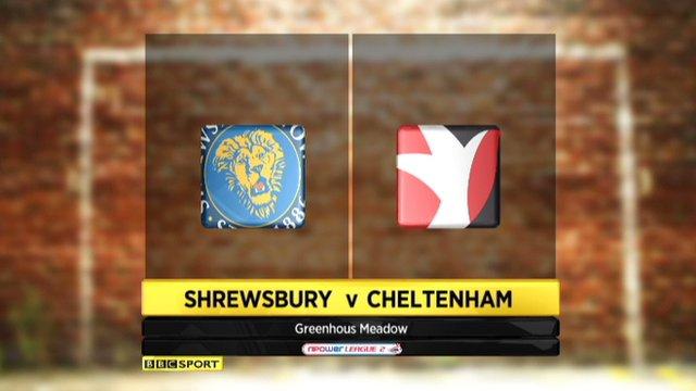 Highlights - Shrewsbury 2-0 Cheltenham