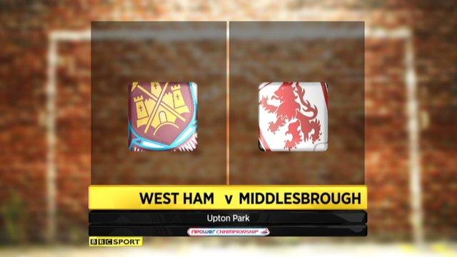 Highlights - West Ham 1-1 Middlesbrough